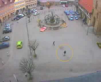 Live-Bild vom Öhringer Marktplatz
